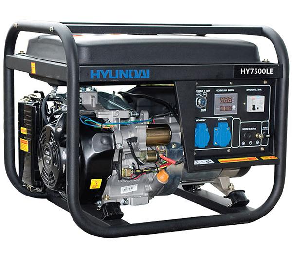 Máy Phát điện Chạy Xăng Hyundai HY7500LE (5.0 KW – 5.5KW) Máy Trần, đề Nổ