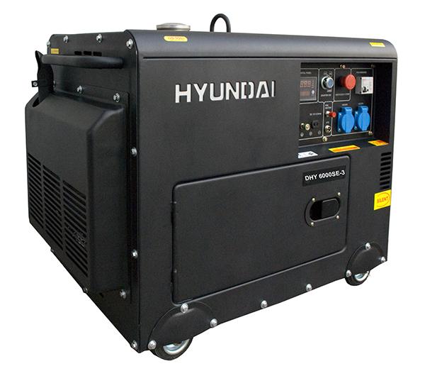 Máy Phát điện Chạy Dầu 6kw Diesel Hyundai DHY6000SE-3