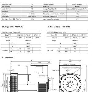 Sơ đồ đầu Phát Máy Phát điện Hyundai